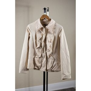 For Cynthia Buttery Soft Fancy Military Jacket - L